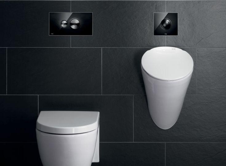 Hoogwaardige bedieningsplaat voor wc en urinoir: Viega Visign Style 10.