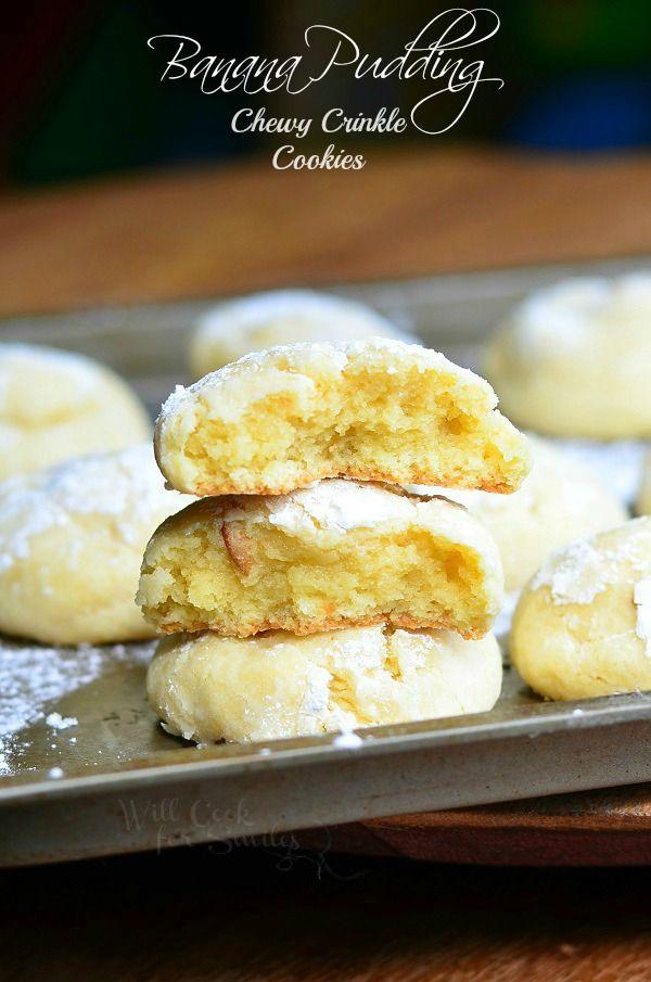 Pudín de plátano Chewy arruga Galletas 4 de willcookforsmiles.com