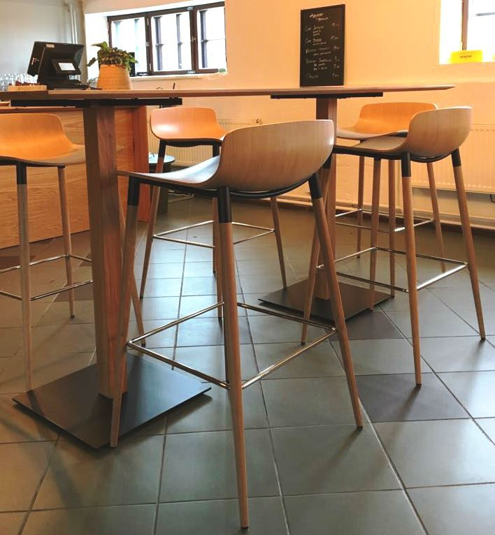 Bar stool, wooden chair, 3D veneer