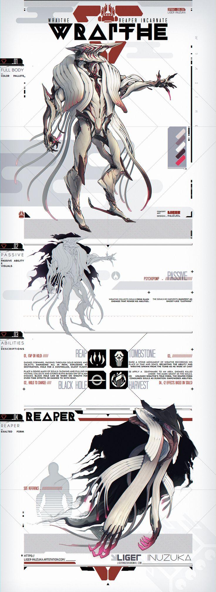 Warframe Concept Art: Wraithe the Reaper Incarnate by Liger-Inuzuka