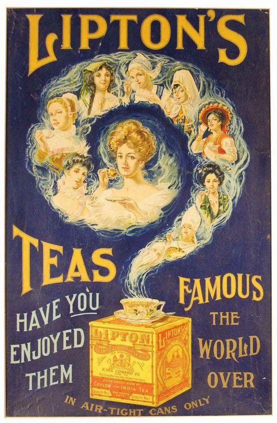 Lipton tea ad, circa 1900
