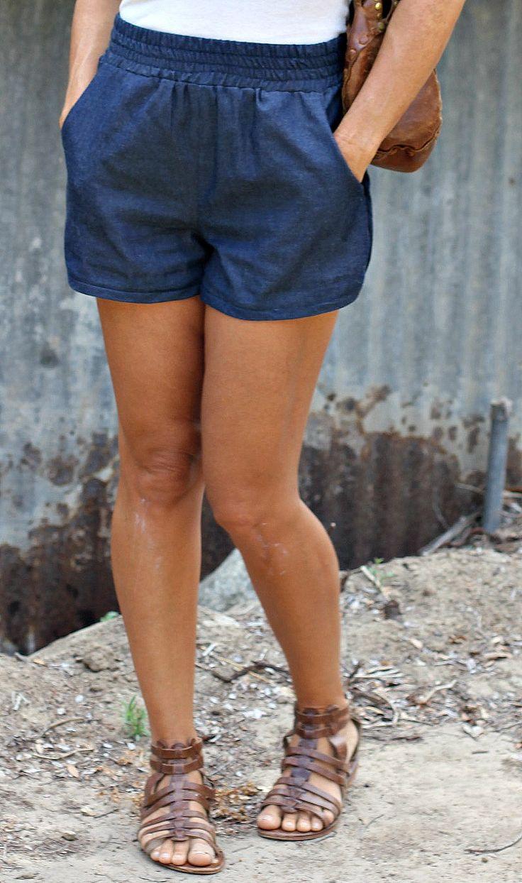 diy denim jogging shorts from simplicity 1165