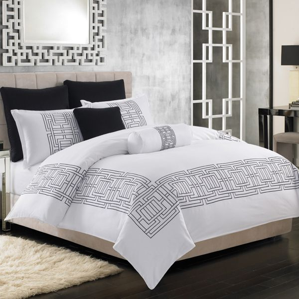 nicole miller bedding argos in white bedrooms pinterest. Black Bedroom Furniture Sets. Home Design Ideas