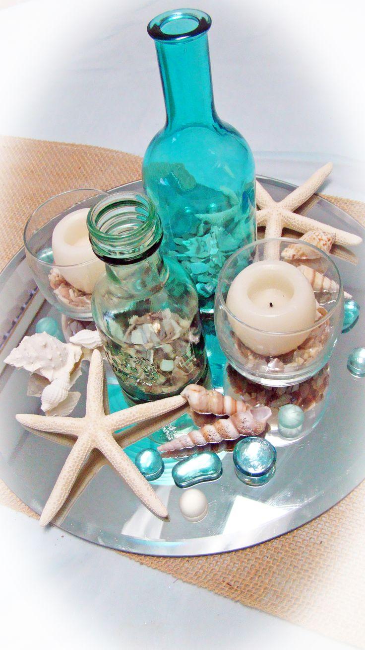 # nautical # starfish wedding centerpiece