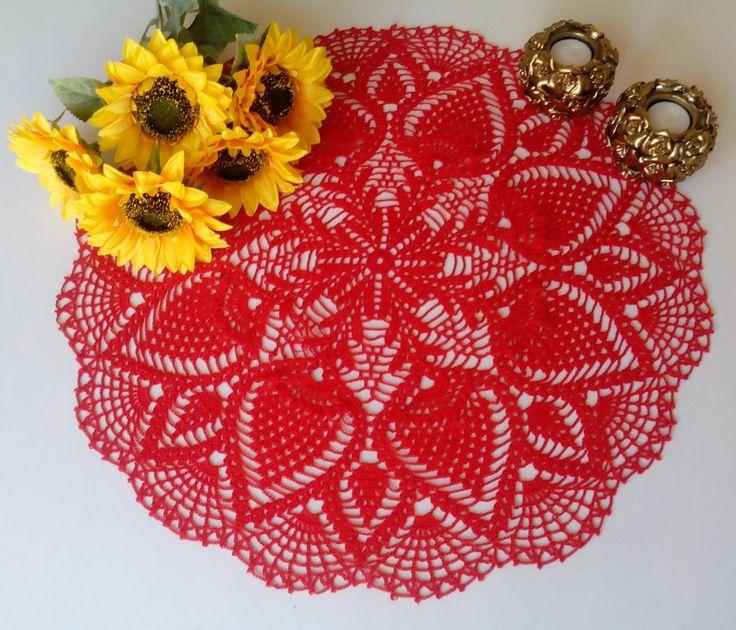 Doily Kiara in red