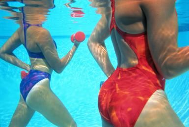 Pool Exercises for Back Pain - How they Work Their Magic: Warm up and cool down your water therapy session with walking.