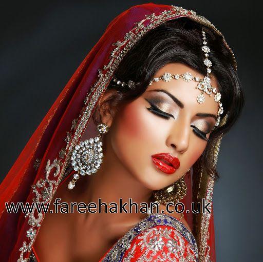 Fareeha Khan a London makeup artist shows her bride makeup a real valuable work.
