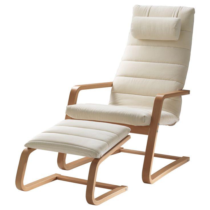Boliden sill n y reposapi s color haya genarp beige claro ikea casa pinterest light - Ikea poltrone relax ...