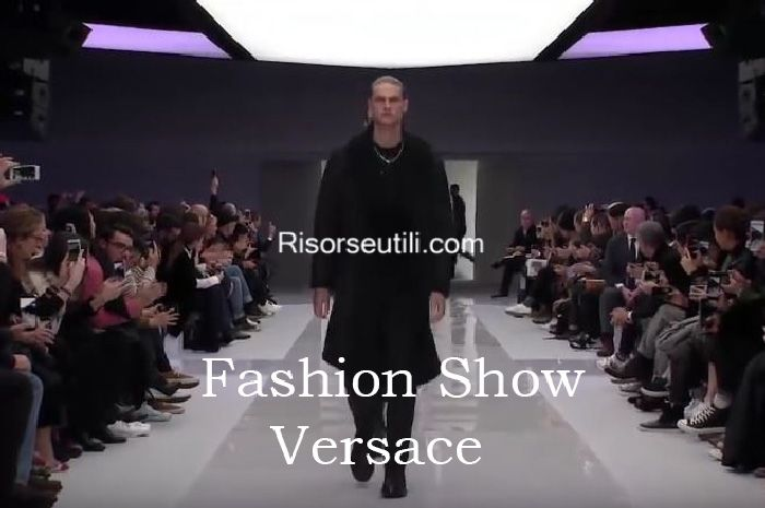 Fashion show Versace fall winter 2016 2017 menswear
