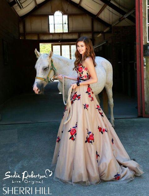 Sadie Robertson's prom dress line through Sherri Hill!