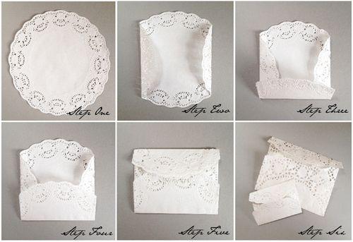 DIY: Lace Paper Doily Envelopes