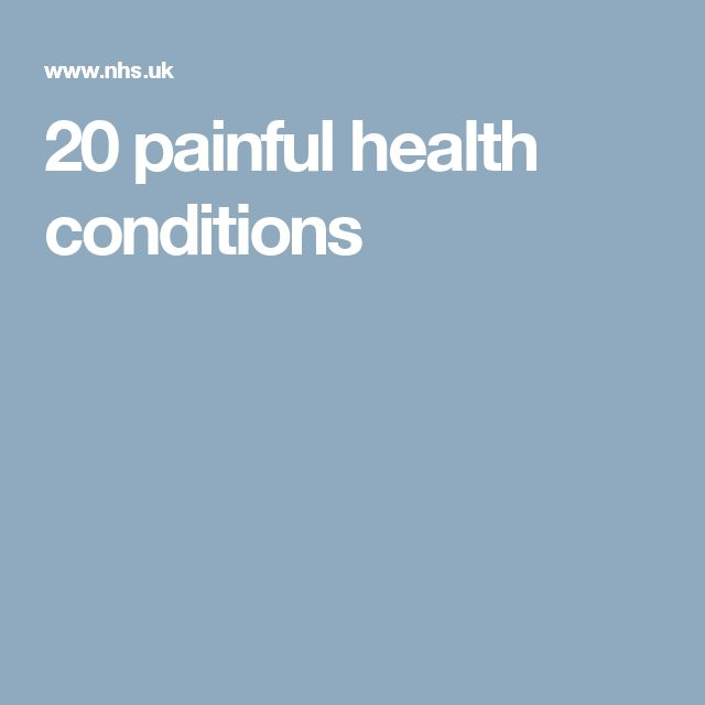 20 painful health conditions