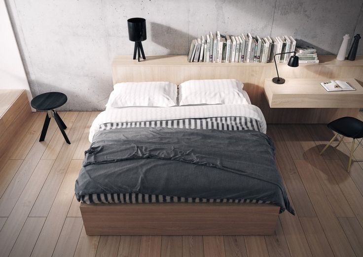 Bedroom:Wooden Bedroom Furnitures With Wooden Bed Sheets With White Cushions Also Double Bedding With Round Black Chair Also Tabale Lamps And Float Desk On Vanity Also Books As Well As Wooden Flooring Some Ideas of Modern Bedroom Design to Inspire You