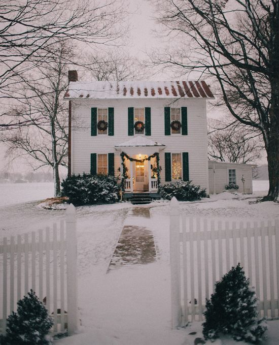 Gorgeous house in the winter.