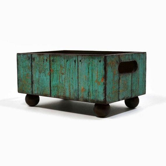 Turquoise weathered barn wood design recipe card by ArtBySunfire