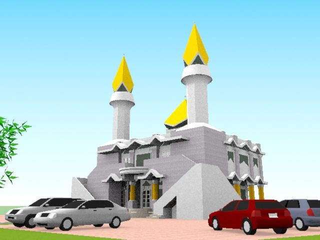Disain Masjid Type PS-02M  Info @ http://bursa-arsitektur.blogspot.co.id/2012/04/disain-masjid-type-ps-02m.html