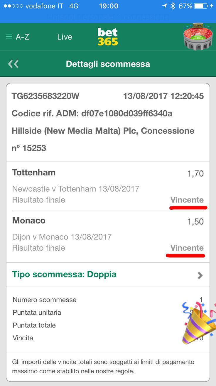 💶❗️SI RICOMINCIA❗️💶  Quota 2.75  ⚽️ Avevamo immaginato le vittorie di Tottenham e Monaco per andare in CASSA in modo tranquillo 💰  ‼️Da quest'anno ci sono i consigli per studiare le partite, completamente gratuiti, sul Blog di Stats4Bets:  https://www.stats4bets.it/blog-pronostici-statistici-e-scommesse-matematiche/
