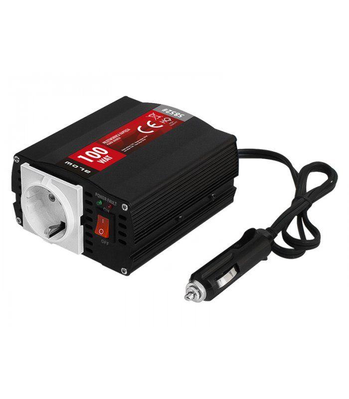 Inverter+12V+DC+ΣΕ+230V+AC+100Watt+HRP-100+BLOW+Είναι+κατάλληλο+την+τροφοδοσία+φορητών+υπολογιστών,+τηλεοράσεων,+ραδιοφώνων,+λαμπών,+fax,+μικρών++ηλεκτρικών+συσκευών.Χαρακτηριστικά:Είσοδος:+10-15V+DCΡεύμα+ηρεμίας:+<0.4AΈξοδος:+230V+AC+50Hz+Ισχύς:+100WATTΨύξη:+ανεμιστήρας+με+θερμικό+αισθητήραΑσφάλεια+από:+βραχυκύκλωμα,+χαμηλή+μπαταρία+με+ηχητική+προειδοποίηση+και+κατόπιν+διακοπή+λειτουργίας,+υπερθέρμανση+με+ηχητική+προειδοποίηση++και+κατόπιν+διακοπή+λειτουργίας+,+υπερφόρτωση+με+ηχητική...