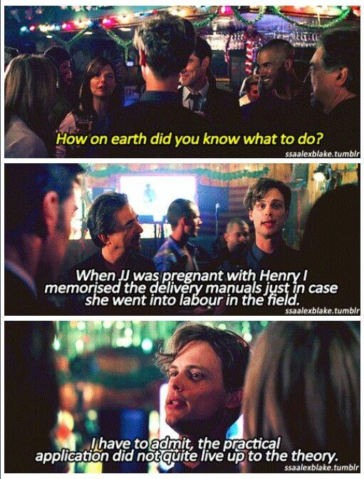 Criminal Minds - Reid talks about delivering the baby.