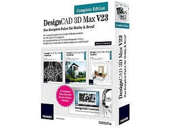 Gratis statt 367,00 Euro: FRANZIS DesignCAD 3D Max V23 Complete Edition CAD-Software (PC-Software)