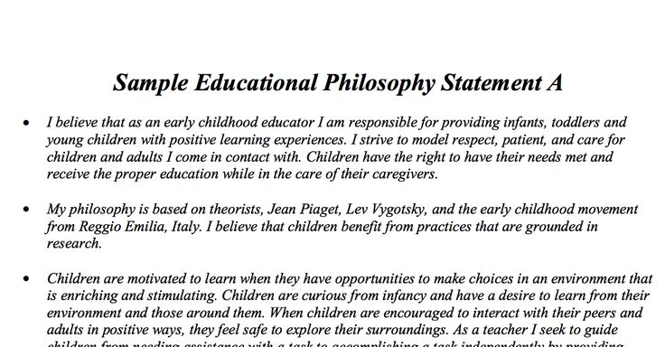 philosophy of education thesis statement