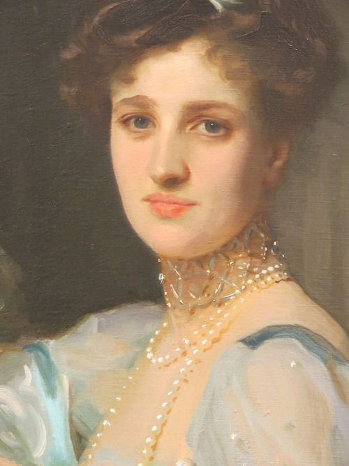 detail of John Singer Sargent's Mrs. Louis E. Raphael