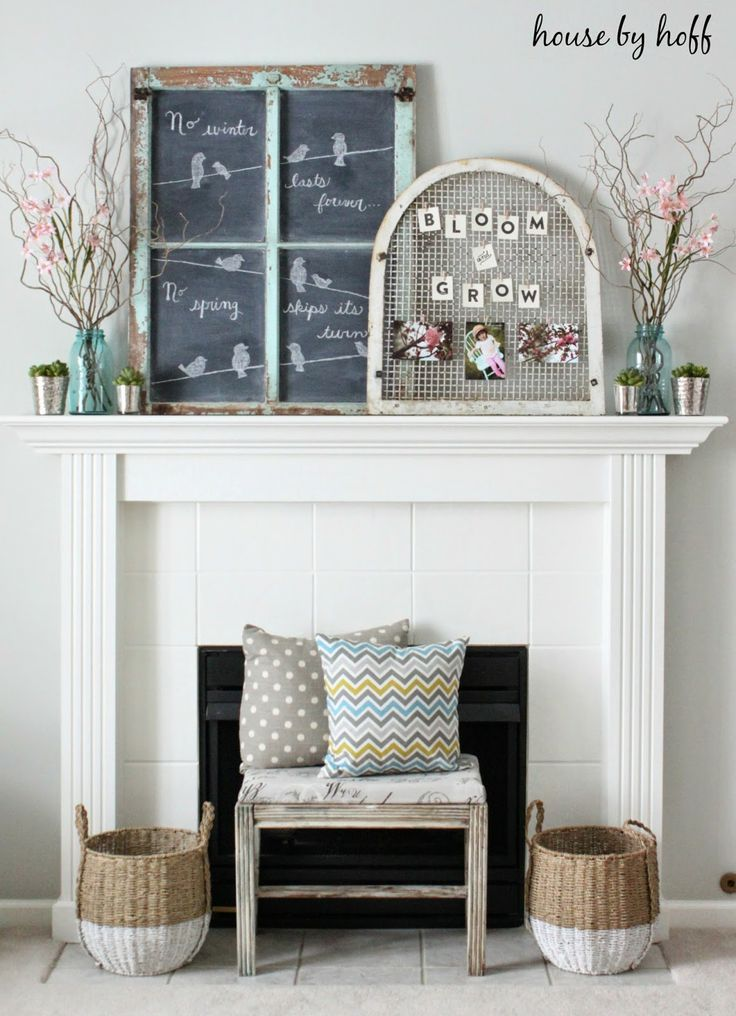 decorating for spring via housebyhoff.blogspot.com
