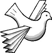 Flying peace dove ornament