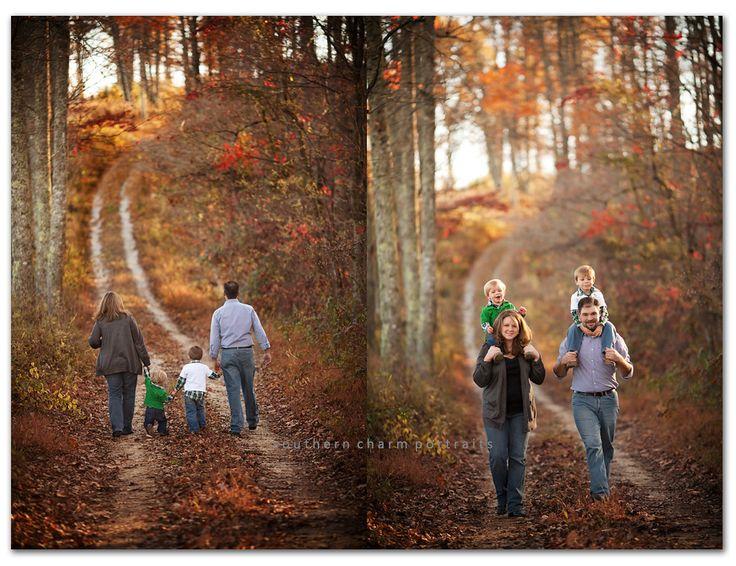 Beautiful family fall portraits