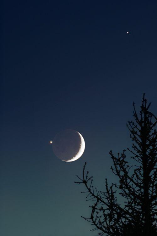 new moon and Jupiter
