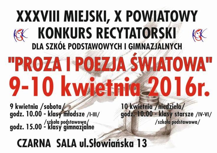 """""""Proza i poezja światowa"""", 9-10.04.2016 r."""