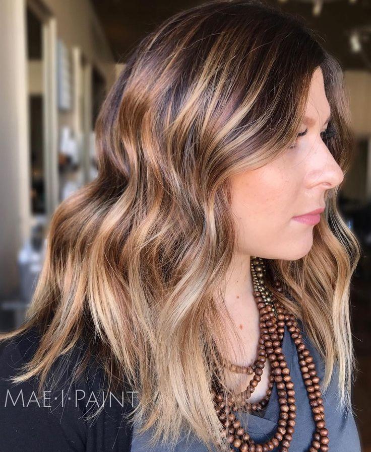 Brown Blonde Medium Shag