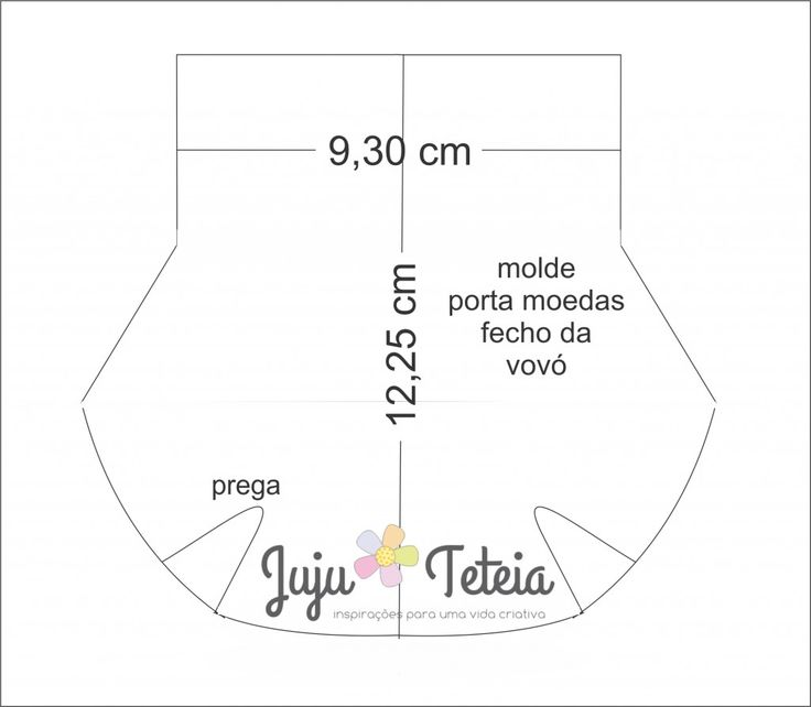 Tutorial: Porta moedas retrô – fecho da vovó! | Juju Teteia - Fecho 8 cm.