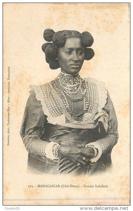 Femmes Sakalava. Madagascar