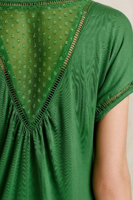 Chiffon-Spliced Tee - anthropologie.com