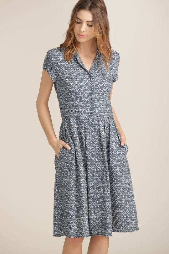 Beatrice Dress | Chambray nautical tea dress | Seasalt