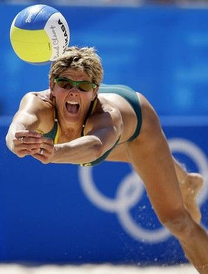 37 year old Australian Natalie Cook will be competing in her fifth Olympics, having won gold in beach volleyball in 2000.