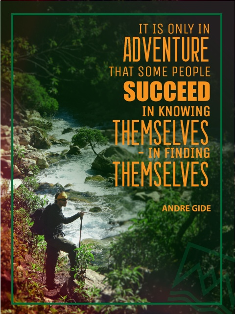 It is only in adventure that some people succeed - #travel #quotes