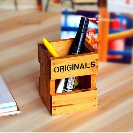 Новое прибытие zakka моды деревянный держатель ручки хранения ретро отделки коммерческих офисных подарков