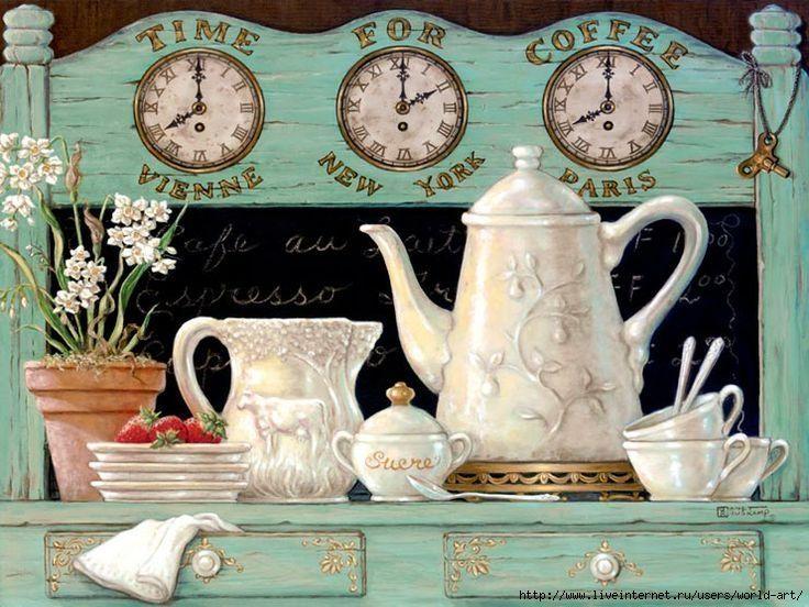 картинки декупаж с чаем