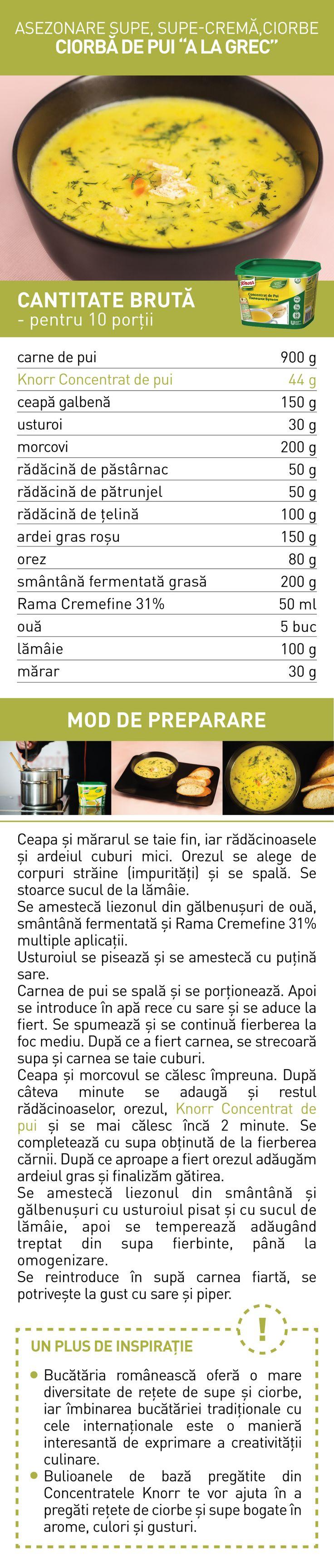 Asezonare supe, supe-crema, ciorbe (IV) - RETETE