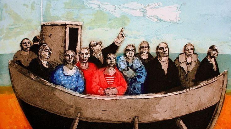 KAROLINA LARUSDOTTIR 1/3 – Lei è nata a Reykjavik nel 1944, ma per quasi cinquant'anni ha vissuto e lavorato nelle isole britanniche (dalla metà degli anni Sessanta). Ora, vive di nuovo nella sua terra d'origine islandese. Molti dei suoi dipinti contemporanei sono radicati nella sua educazione in Islanda. Lei ricorda l'Islanda della sua infanzia come ...