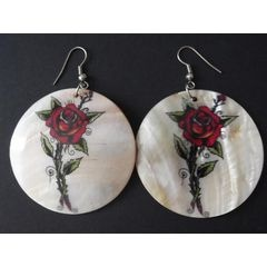 Beautiful Rose Shell Earrings for R45.00