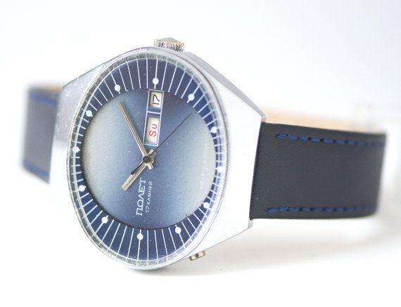 Rare design men's watch Poljot  unique mens watch oval by 4Rooms