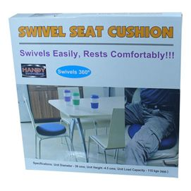 Swivel Seat cushion helps ease pressure on your back and hips.