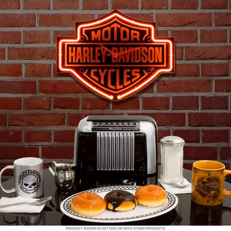 Harley Davidson Motorcycle Bar Shield Logo Neon Table Or: Best 25+ Biker Bar Ideas On Pinterest