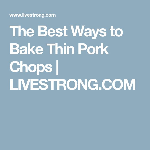Baked Thin Cut Pork Loin Recipe