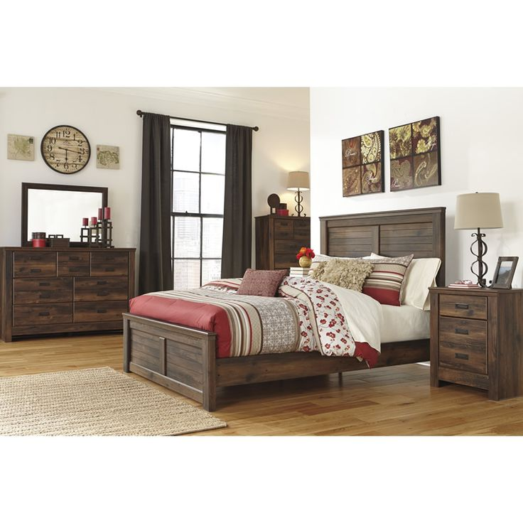 Large Picture of Signature Design Quinden B246 King Panel Bed