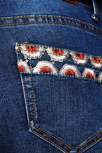 Jeans Exotic Papping Ankle Desigual. Descubre la colección otoño-invierno 2017. ¡Devoluciones y envío a tienda gratis!