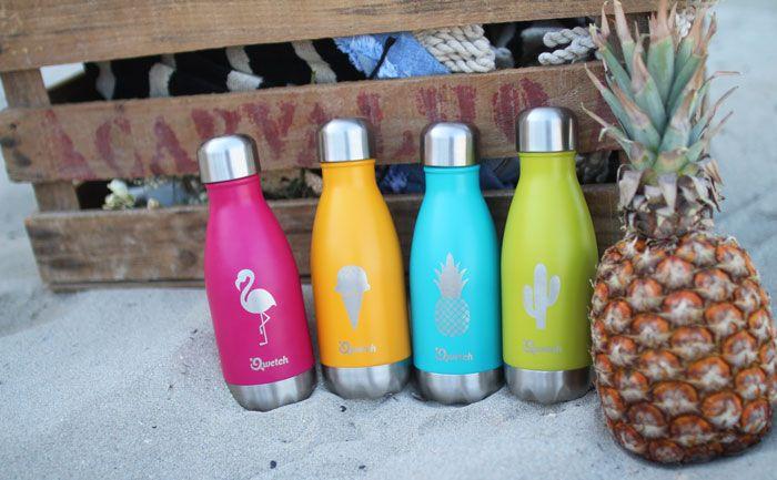 La marque française Qwetch lance en édition limitée « Summer Édition », une nouvelle collection de bouteilles isothermes en acier inoxydable.